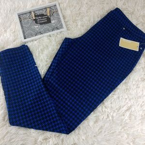 NWT MICHAEL Michael Kors Royal Blue/BLK Pants